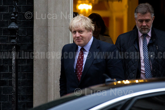 Boris Johnson MP (Secretary of State for Foreign and Commonwealth Affairs).<br /> <br /> London, 09/02/2017. Today, The Italian Prime Minister, Paolo Gentiloni, visited 10 Downing Street where he had a meeting with the British Prime Minister Theresa May. Noticeably, the Italian Prime Minister used - again (His predecessor and leader of the PD - Democratic Party - Matteo Renzi started this &quot;tradition&quot; to visit 10 Downing Street with a non-Italian car in 2014 replacing the official Maserati Quattroporte - number plate &quot;Ita 1&quot; - with a Chrysler 300c made by FCA, Fiat Chrysler Automobiles. FIAT - Aka Fabbrica Italiana Automobili Torino - moved its tax domicile from Italy to the UK just the day before - see my story here https://goo.gl/hH5a6O) - a different car for his official visit in the UK. In fact, this time the official Maserati Quattroporte &quot;Ita 1&quot;, was replaced by an Audi A8L 6.3 W12 quattro, a luxury car produced by the German and world leader of the car industry, Volkswagen Group.