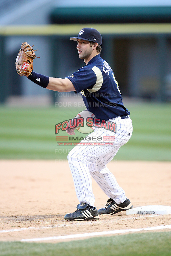 April 15, 2009: Evan Sharpley (8) of the Notre Dame Fighting Irish at US Cellular Field in Chicago, IL.  Photo by: Chris Proctor/Four Seam Images
