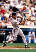 Jeff Kent of the San Francisco Giants participates in a Major League Baseball game at Dodger Stadium during the 1998 season in Los Angeles, California. (Larry Goren/Four Seam Images)
