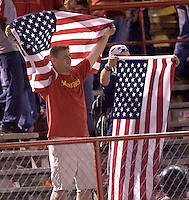 USA fans. The USA defeated Panama 3-0 in final round World Cup qualifying at Estadio Rommel Fernandez, Panama City, Panama, on June 8, 2005.