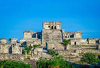 Mexiko, Yucatan, Quintana Roo, Tulum: Ruinen einer Maya-Stadt | Mexico, Yucatan, Quintana Roo, Tulum: View over Mayan City