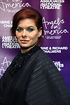 """Debra Messing attends The American Associates of the National Theatre's Gala celebrating Tony Kushner's """"Angels in America"""" on March 11, 2018 at the Ziegfeld Ballroom,  in New York City."""
