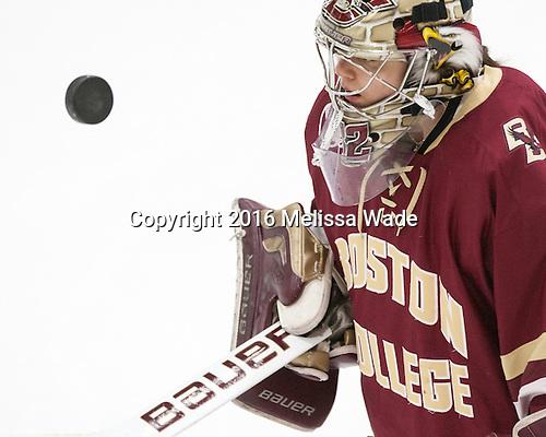 Gabri Switaj (BC - 32) - The visiting Boston College Eagles defeated the Harvard University Crimson 2-0 on Tuesday, January 19, 2016, at Bright-Landry Hockey Center in Boston, Massachusetts.