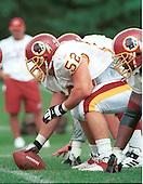 Washington Redskins center Cory Raymer (52) participates in drills during Redskin training camp at Redskin Park in Ashburn, Virginia on July 21, 2000.  <br /> Credit: Arnie Sachs / CNP