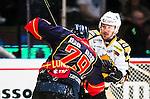 ***BETALBILD***  <br /> Stockholm 2015-09-19 Ishockey SHL Djurg&aring;rdens IF - Skellefte&aring; AIK :  <br /> Skellefte&aring;s Jimmie Ericsson i br&aring;k med Djurg&aring;rdens Emil Lundberg under matchen mellan Djurg&aring;rdens IF och Skellefte&aring; AIK <br /> (Foto: Kenta J&ouml;nsson) Nyckelord:  Ishockey Hockey SHL Hovet Johanneshovs Isstadion Djurg&aring;rden DIF Skellefte&aring; SAIK slagsm&aring;l br&aring;k fight fajt gruff