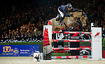 John Whitaker of United Kingdom riding Argento in action during the Longines Speed Challenge competition as part of the Longines Hong Kong Masters on 13 February 2015, at the Asia World Expo, outskirts Hong Kong, China. Photo by Victor Fraile / Power Sport Images