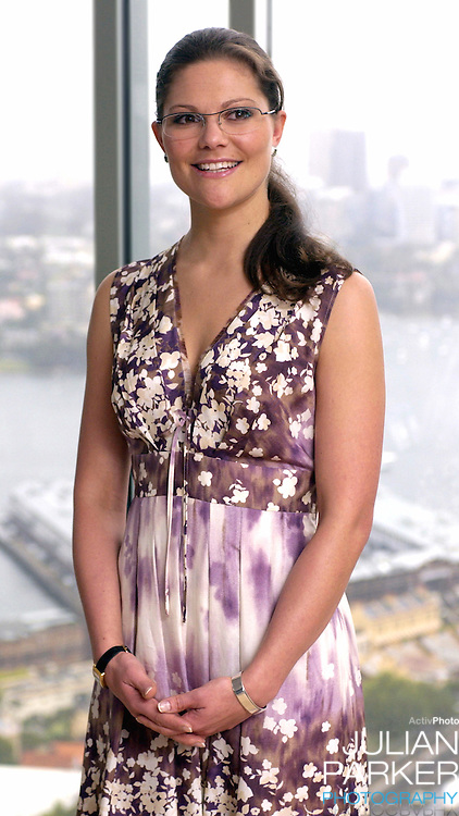Crown Princess Victoria of Sweden 'meets the press' at the Shangri-La Hotel in Sydney - during her visit taking part in 'Swedish Style in Australia'..
