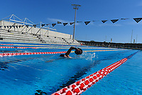 Stefano Di Cola swims during a training session.  <br /> Italian athletes were able to resume training last week after more than 50 days of lockdown due to the coronavirus (covid-19) pandemic <br /> Roma 12-5-2020 Centro Federale di Ostia <br /> Photo Andrea Staccioli / Deepbluemedia / Insidefoto
