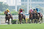 Jockeys compete during the Chairman's Sprint Prize (1200m) on 07 May 2017, at the Sha Tin Racecourse  in Hong Kong, China. Photo by Chris Wong / Power Sport Images