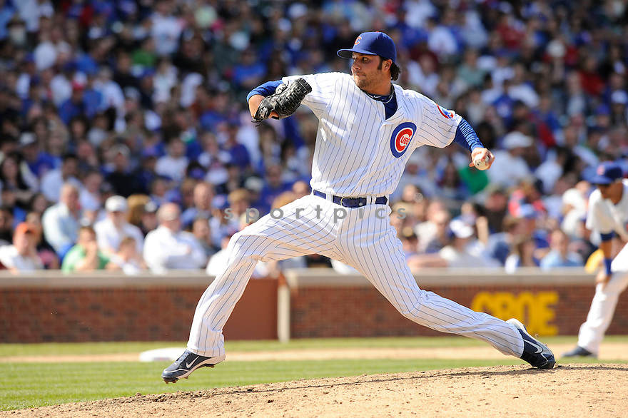 JAMES RUSSELL, of the Chicago Cubs, in action during the Cubs game against the Arizona Diamondbacks at  Wrigley Field in Chicago, IL  on April 29, 2010...The Arizona Diamondbacks  win 13-5.