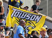 College Park, MD - September 9, 2017: Towson Tigers fan during game between Towson and Maryland at  Capital One Field at Maryland Stadium in College Park, MD.  (Photo by Elliott Brown/Media Images International)