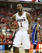 NC State Senior Richard Howell, Raleigh, NC, Jan. 12, 2013. The Wolfpack defeated the Blue Devils 84-76.
