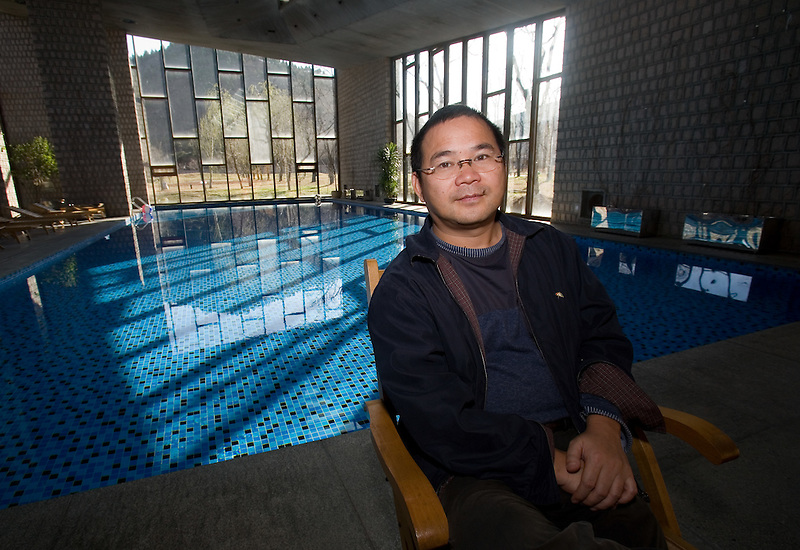 Wealthy Chinese businessman, Zhang Baoquan, Board Chairman of Antaeus Group in his palatial home north of Beijing, China, April 4, 2007.