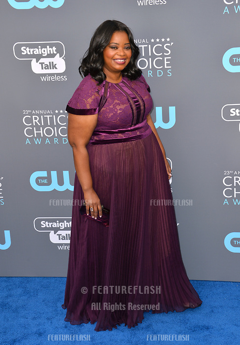 Octavia Spencer at the 23rd Annual Critics' Choice Awards at Barker Hangar, Santa Monica, USA 11 Jan. 2018<br /> Picture: Paul Smith/Featureflash/SilverHub 0208 004 5359 sales@silverhubmedia.com
