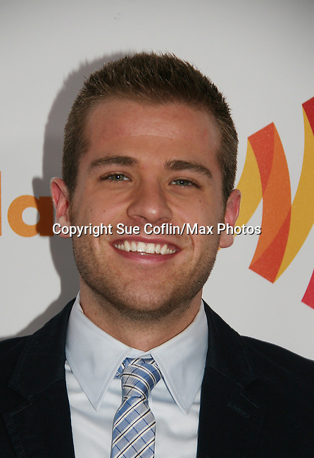 One Life To Live's Scott Evans wins at the 21st Annual GLAAD Media Awards on March 13, 2010 at the New York Marriott Marquis, New York City, NY. (Photo by Sue Coflin/Max Photos)