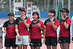 Japan women team group (JPN),<br /> AUGUST 31, 2018 - Soft Tennis : <br /> Women's Team  Preliminary Round <br /> at Jakabaring Sport Center Tennis Courts <br /> during the 2018 Jakarta Palembang Asian Games <br /> in Palembang, Indonesia. <br /> (Photo by Yohei Osada/AFLO SPORT)