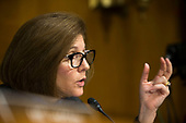 United States Senator Catherine Cortez Masto (Democrat of Nevada), asks a question during a hearing entitled 'Protecting Consumers in the Era of Major Data Breaches' before the US Senate Commerce, Science, and Transportation Committee on Capitol Hill in Washington, D.C. on November 8th, 2017. <br /> Credit: Alex Edelman / CNP