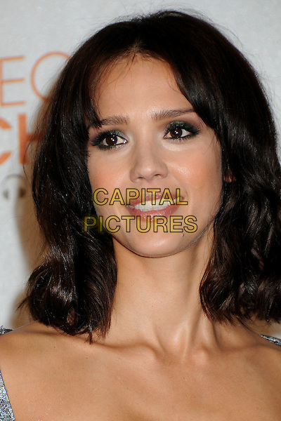 JESSICA ALBA  .36th Annual People's Choice Awards - Press Room held at the Nokia Theatre LA Live, Los Angeles, California, USA, 6th January 2010..portrait headshot grey gray silver .CAP/ADM/BP.©Byron Purvis/Admedia/Capital Pictures