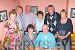 Brian Wall Millstreet who celebrated his 70th birthday in the Beaufort bar on Saturday night front l-r: Ronnie and Brian Wall, back row: Eileen Cotter, Paul Crowley, James Cotter, Breda Madden, Michael Madden and Valarie Crowley