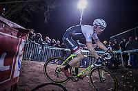road racer Boy van Poppel (NED/Trek-Segafredo) joining in on the cyclocross fun<br /> <br /> Elite Men's race<br /> Superprestige Diegem 2016