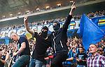 Solna 2015-08-10 Fotboll Allsvenskan AIK - Djurg&aring;rdens IF :  <br /> Djurg&aring;rdens supportrar inf&ouml;r matchen mellan AIK och Djurg&aring;rdens IF <br /> (Foto: Kenta J&ouml;nsson) Nyckelord:  AIK Gnaget Friends Arena Allsvenskan Djurg&aring;rden DIF supporter fans publik supporters