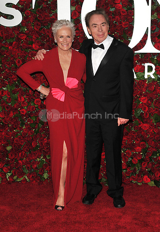 NEW YORK, NY - JUNE 12: Glenn Close, Andrew Lloyd Webber at the 70th Annual Tony Awards at The Beacon Theatre on June 12, 2016 in New York City. Credit: John Palmer/MediaPunch