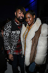 Beyonce Stylist Ty Hunter and Nicole at Angela Simmons I Am Presentation Powered Monster at 404 During Mercedes-Benz Fashion Week Fall 2014 NY