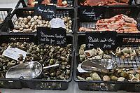 Europe/France/Aquitaine/33/Gironde/Bordeaux: Etal de coquillages ,  Poissonnerie Bonne Mer, 135, rue Fondaudège