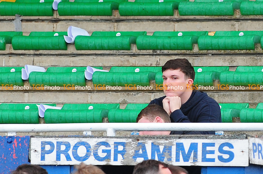 A dejected Hartlepool United after Hartlepool United are relegated to the conference during Hartlepool United vs Doncaster Rovers, Sky Bet EFL League 2 Football at Victoria Park on 6th May 2017