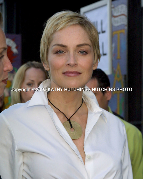 ©2003 KATHY HUTCHINS/ HUTCHINS PHOTO.PROJECT ANGEL FOOD ANNUAL BENEFIT DINNER.LOS ANGELES, CA.AUGUST 9, 2003..SHARON STONE