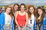 Sarah Sheahan, Mary Claire Teahan, Saoirse Griffin, Lorna Griffin and Molly O'Sullivan Glenbeigh at the Rossbeigh races on Sunday..