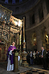 Israel, Jerusalem Old City, Ash Wednesday at the Church of the Holy Sepulchre