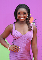 LOS ANGELES, CA July 13- Simone Biles, At Nickelodeon Kids' Choice Sports Awards 2017 at The Pauley Pavilion, California on July 13, 2017. Credit: Faye Sadou/MediaPunch