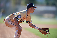Cody Freeman during the WWBA World Championship at the Roger Dean Complex on October 20, 2018 in Jupiter, Florida.  Cody Freeman is a shortstop from Rancho Cucamonga, California who attends Etiwanda High School and is committed to Baylor.  (Mike Janes/Four Seam Images)