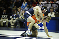 STATE COLLEGE, PA -DECEMBER 19: Matt McCutcheon of the Penn State Nittany Lions during a match against Austin Gabel of the Virginia Tech Hokies on December 19, 2014 at Recreation Hall on the campus of Penn State University in State College, Pennsylvania. Penn State won 20-15. (Photo by Hunter Martin/Getty Images) *** Local Caption *** Matt McCutcheon;Austin Gabel