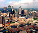 Aerial Photograph of the Minneapolis Skyline Convention Center