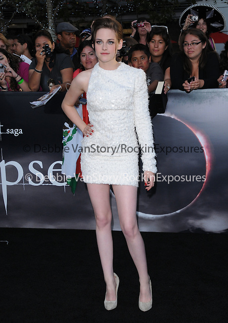 Kristen Stewart at the Summit Entertainment's Premiere of The Twilight Saga : Eclipse held at the Los Angeles Film Festival at Nokia Live in Los Angeles, California on June 24,2010                                                                               © 2010 Debbie VanStory / Hollywood Press Agency