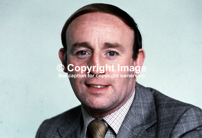 John Nicholl, Irish secretary, Sheetmetal Workers &amp; Coppersmiths Union, Belfast, N Ireland, 1979080079JN.<br />