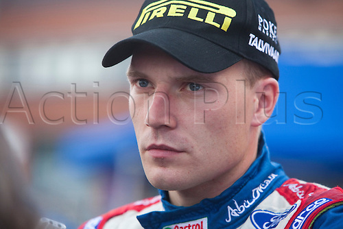 JYVASKYLA, FINLAND - JULY 31: Jari-Matti Latvala of Finland pictured on the service area in the WRC Rally Finland on July 31, 2010 in Jyvaskyla, Finland.