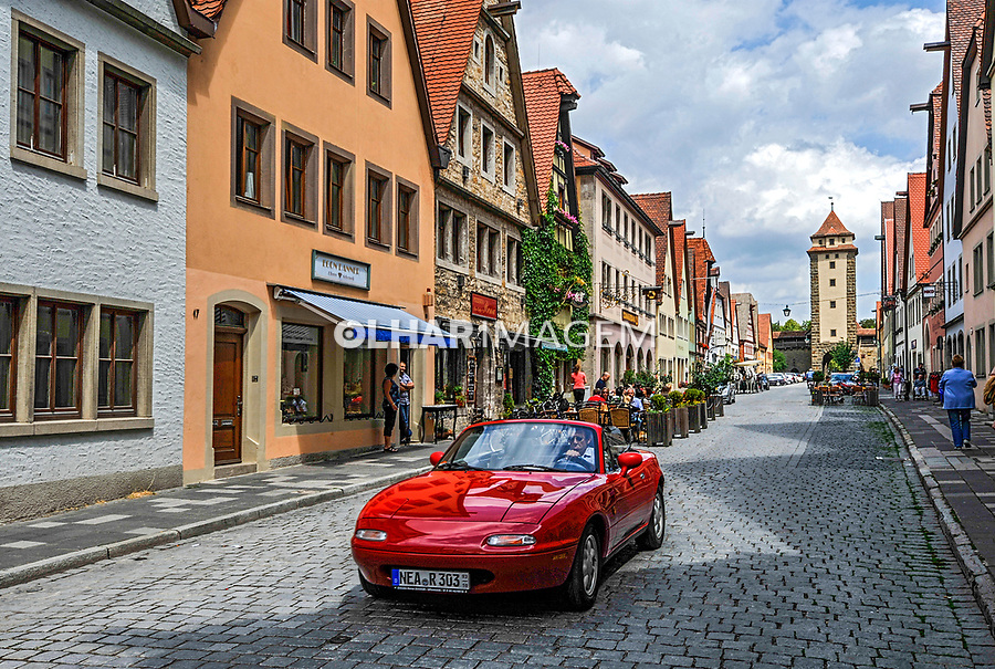 Cidade medieval Rothenburg ob der Tauber. Bavaria. Alemanha. 2011. Foto de Juca Martins