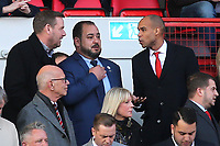 Charlton's new Chairman, Matt Southall (Top, far right) talks to new owner, His Excellency Tahnoon Nimer on his first visit to see a match at Charlton during Charlton Athletic vs Barnsley, Sky Bet EFL Championship Football at The Valley on 1st February 2020