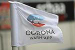 20.06.2020, xmeix, 1.Fussball Bundesliga, TSG 1899 Hoffenheim - 1.FC UNion Berlin, empor. v.l.n.r, <br /> Eckfahne mit Corona App Werbung<br /> <br /> <br /> <br /> Foto: Sascha Meiser/APF/Pool/PIX-Sportfotos<br /> <br /> Nur für journalistische Zwecke!<br /> Only for editorial use!<br /> Nutzungsbedingungen: http://poolbilder.de/nutzungsvereinbarung.pdf