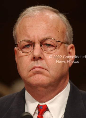 Washington, D.C. - April 13, 2004 --  Former Director, Counterterrorism Center, Central Intelligence Agency (CIA) J. Cofer Black testifies before the National Commission on Terrorist Attacks Upon the United States (the 9-11 Commission) in Washington, DC on April 13, 2004.<br /> Credit: Ron Sachs / CNP<br /> [RESTRICTION: No New York Metro or other Newspapers within a 75 mile radius of New York City]