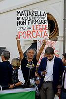 Roma, 11 Ottobre 2017<br /> Movimento 5 Stelle in Piazza Montecitori contro la fiducia al Governo per la Legge Elettorale Rosatellum Bis