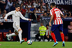 Angel Martin Correa of Atletico de Madrid and James Rodriguez of Real Madrid during La Liga match between Atletico de Madrid and Real Madrid at Wanda Metropolitano Stadium in Madrid, Spain. September 28, 2019. (ALTERPHOTOS/A. Perez Meca)