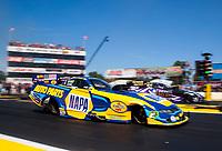 Aug 18, 2019; Brainerd, MN, USA; NHRA funny car driver Ron Capps during the Lucas Oil Nationals at Brainerd International Raceway. Mandatory Credit: Mark J. Rebilas-USA TODAY Sports
