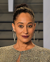 BEVERLY HILLS, CA - MARCH 4: Tracee Ellis Ross arrives at the 2018 Vanity Fair Oscar Party at the Wallis Annenberg Center for the Performing Arts on March 4, 2018 in Beverly Hills, California.(Photo by Scott Kirkland/PictureGroup)