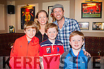 Fans<br /> -------<br /> Pictured in McHales bar Causeway last Saturday afternoon with former Manchester United star Lee Sharpe were Martina Kenny and her 3 sons L-R Cillian,Cathal&amp;Colm