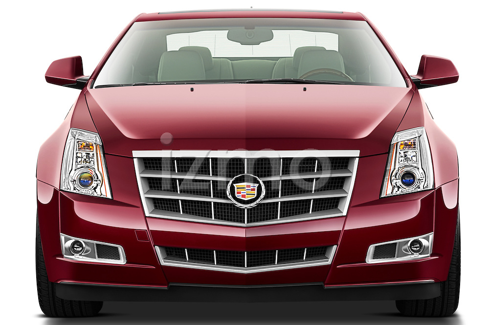 Straight front view of a 2011 Cadillac CTS Coupe PremiumStraight front view of a