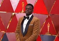 Daniel Kaluuya arrives at the Oscars on Sunday, March 4, 2018, at the Dolby Theatre in Los Angeles. (Photo by Richard Shotwell/Invision/AP)